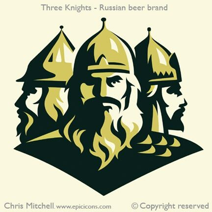 Three Knights Beer Brand Logo