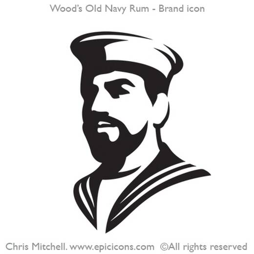 Wood's Old Navy Rum Brand Logo