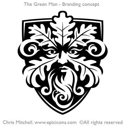 Green Man Brand Logo