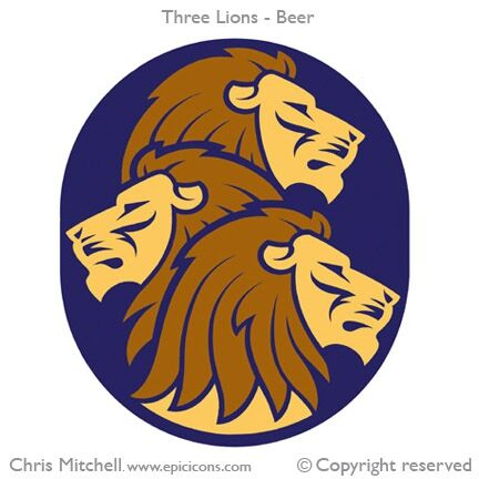 Three Lions Beer Brand Logo