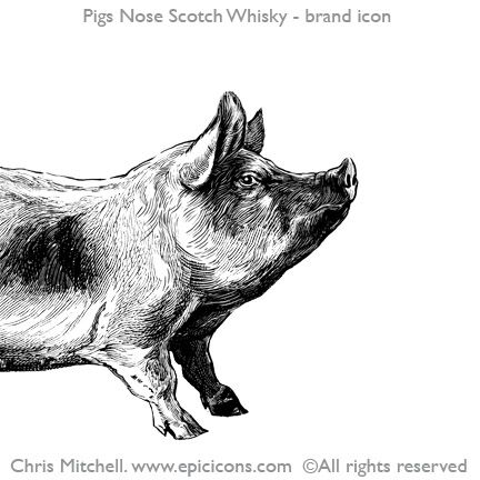Pigs Nose Whisky Brand Logo