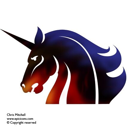Unicorn Head Logo