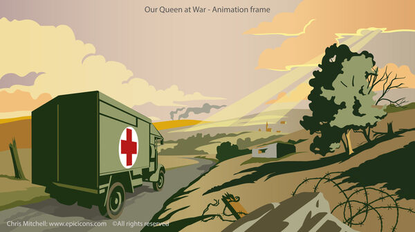 Our Queen at War . Animation Ambulance