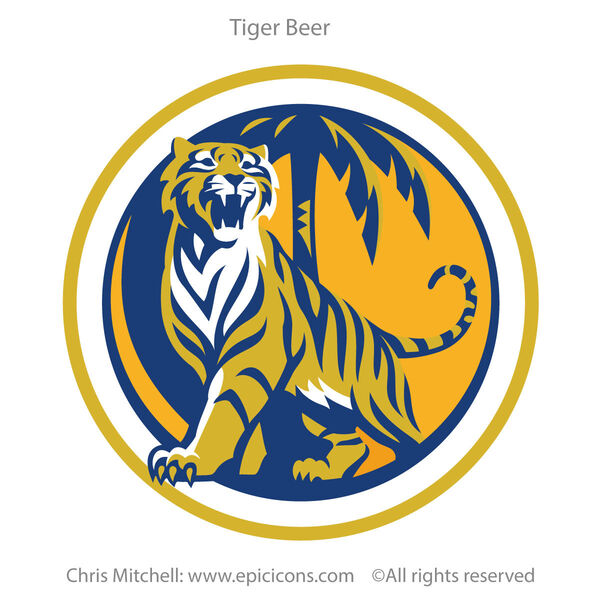 Tiger Beer brand logo