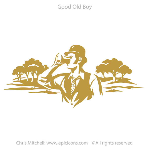 Good Old Boy Beer Brand logo