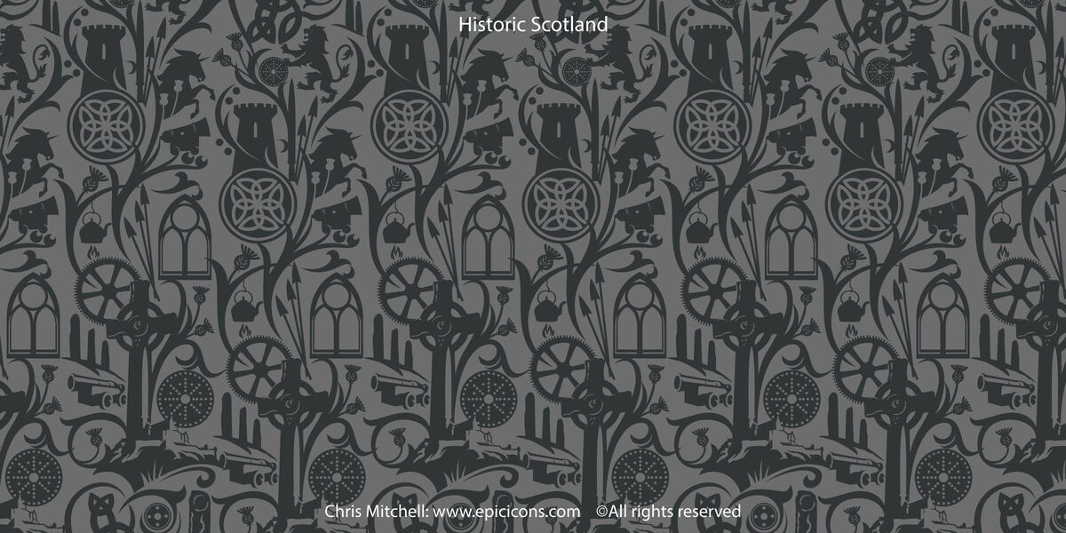 Historic Scotland Frieze brand illustration