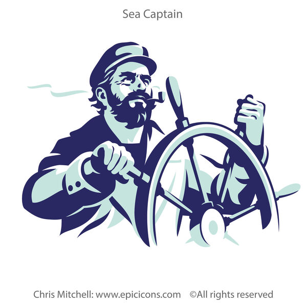 Down East Coffee Sea Captain Brand Logo