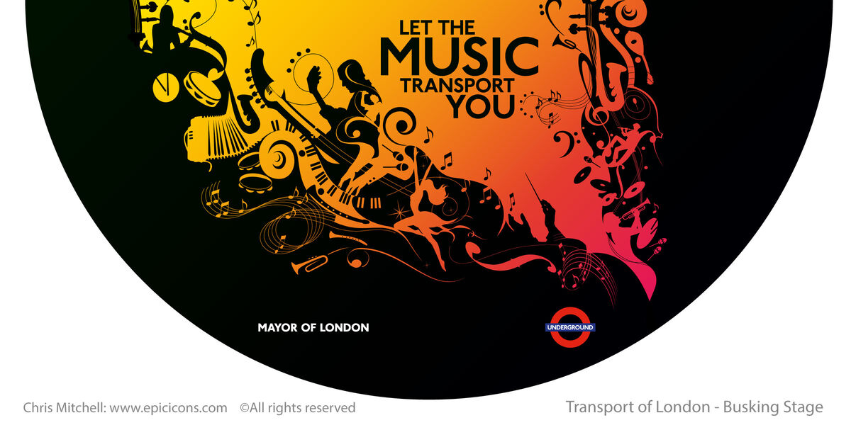 London Transport Busking Brand Logo
