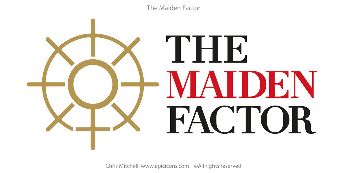 The Maiden Factor brand identity logo