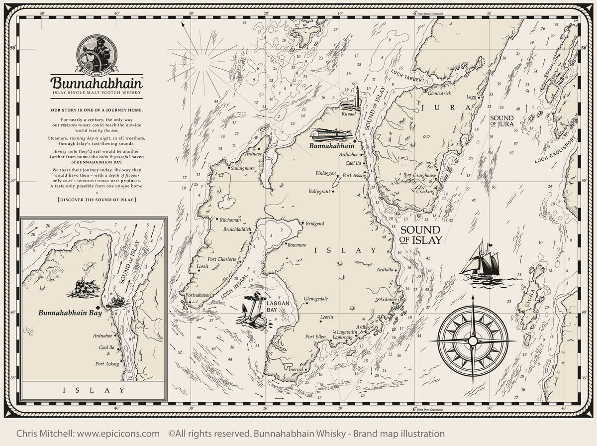 Bunnahabhain Map Frieze