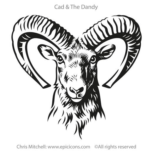 Cad and The Dandy Brand Logo Ram Head