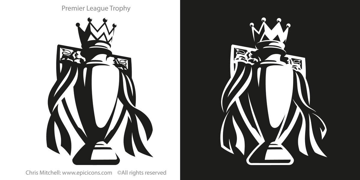 Premier League Trophy Icon Logo Brand Icon   Epicicons