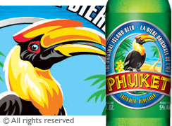 Phuket Beer. Brand illustration