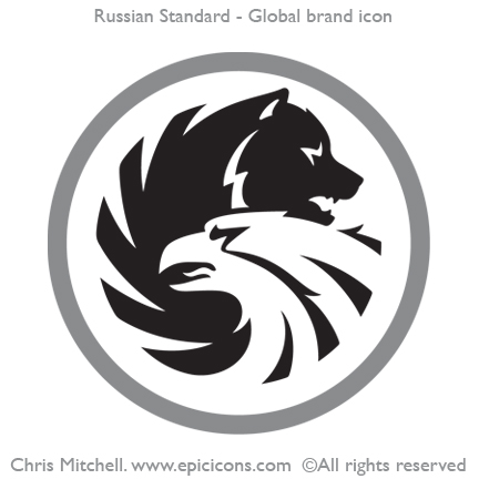 Russian Standard. Global brand icon