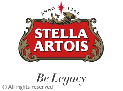 Stella Artois. Global beer brand