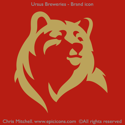 Ursus beer brand icon